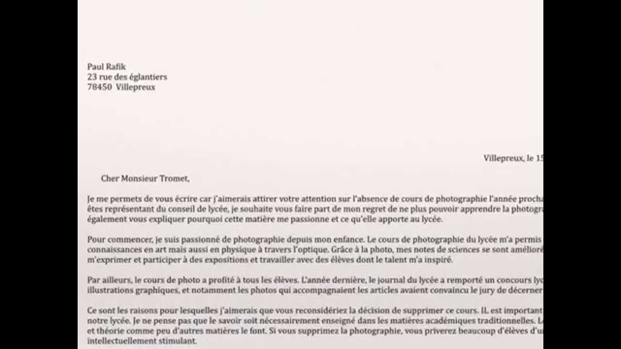 Writing A Formal Letter Persuasive Writing  French Vce Text