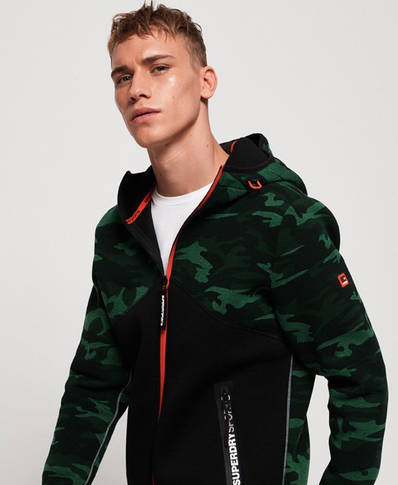 SportTek Men's Black/ Deep Red SportWick CamoHex Fleece