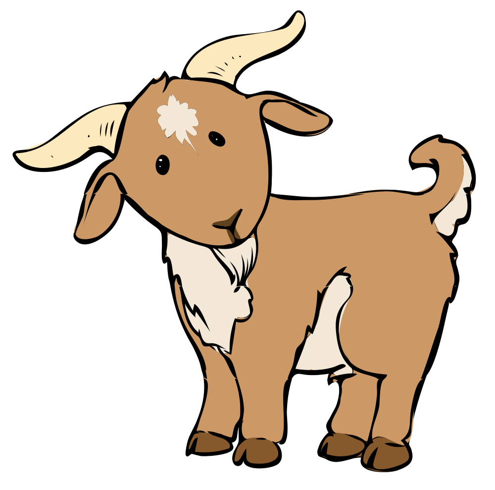 share these goat coloring pages with your friends through google rh pinterest com  free billy goat clipart