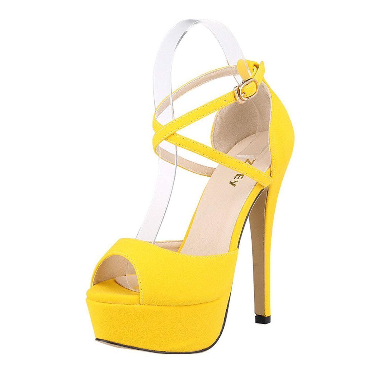 a9f5922c779 Amazon.com | ZriEy Women Sandals 14CM/5.5 inches High-Heeled Peep ...