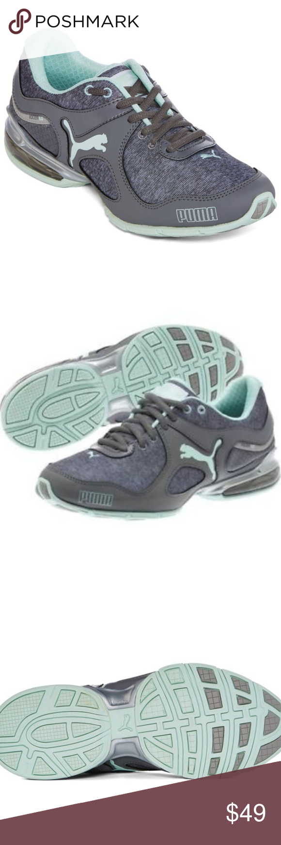 155b46559b33 Puma Women s Cell Riaz Gray Athletic Sneakers Same day or next day shipping PUMA  Cell Riaz
