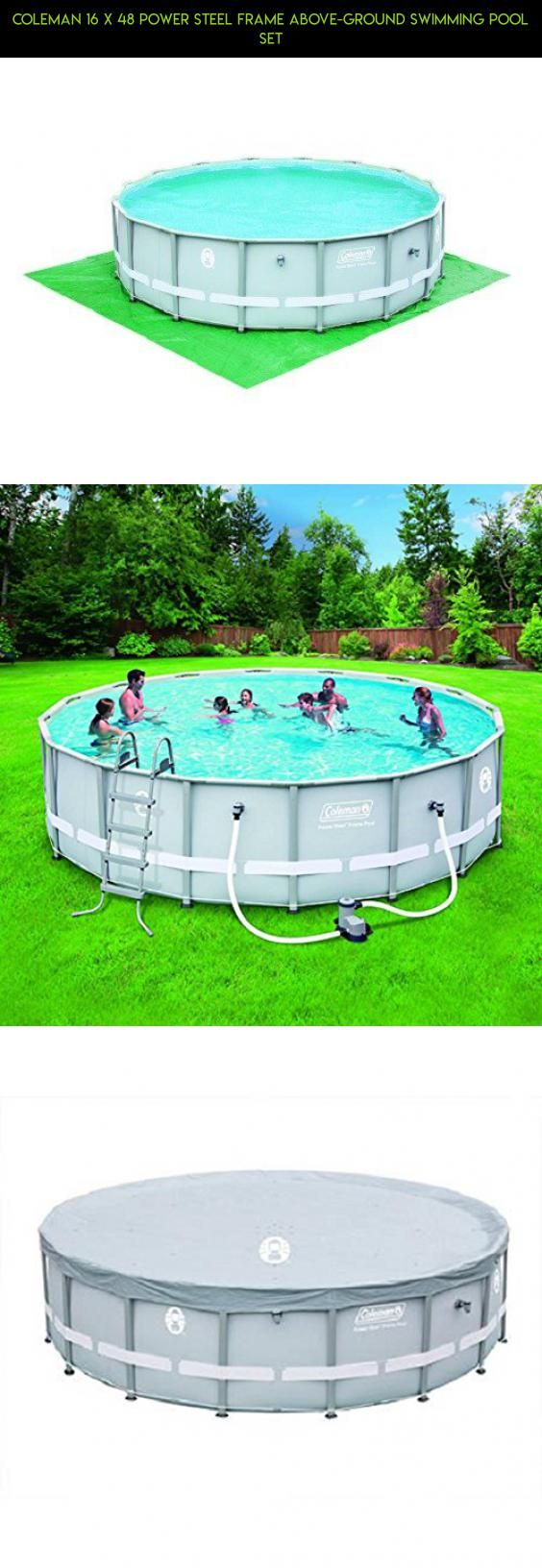 Coleman 16 x 48 Power Steel Frame Above-Ground Swimming Pool Set ...