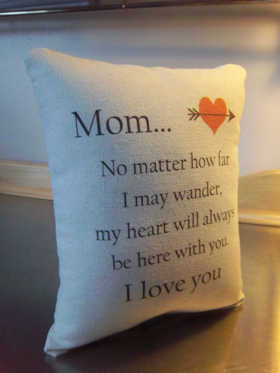 Mother Birthday Gift Pillow Cotton Throw I Love You Mom Bedroom Home Decor
