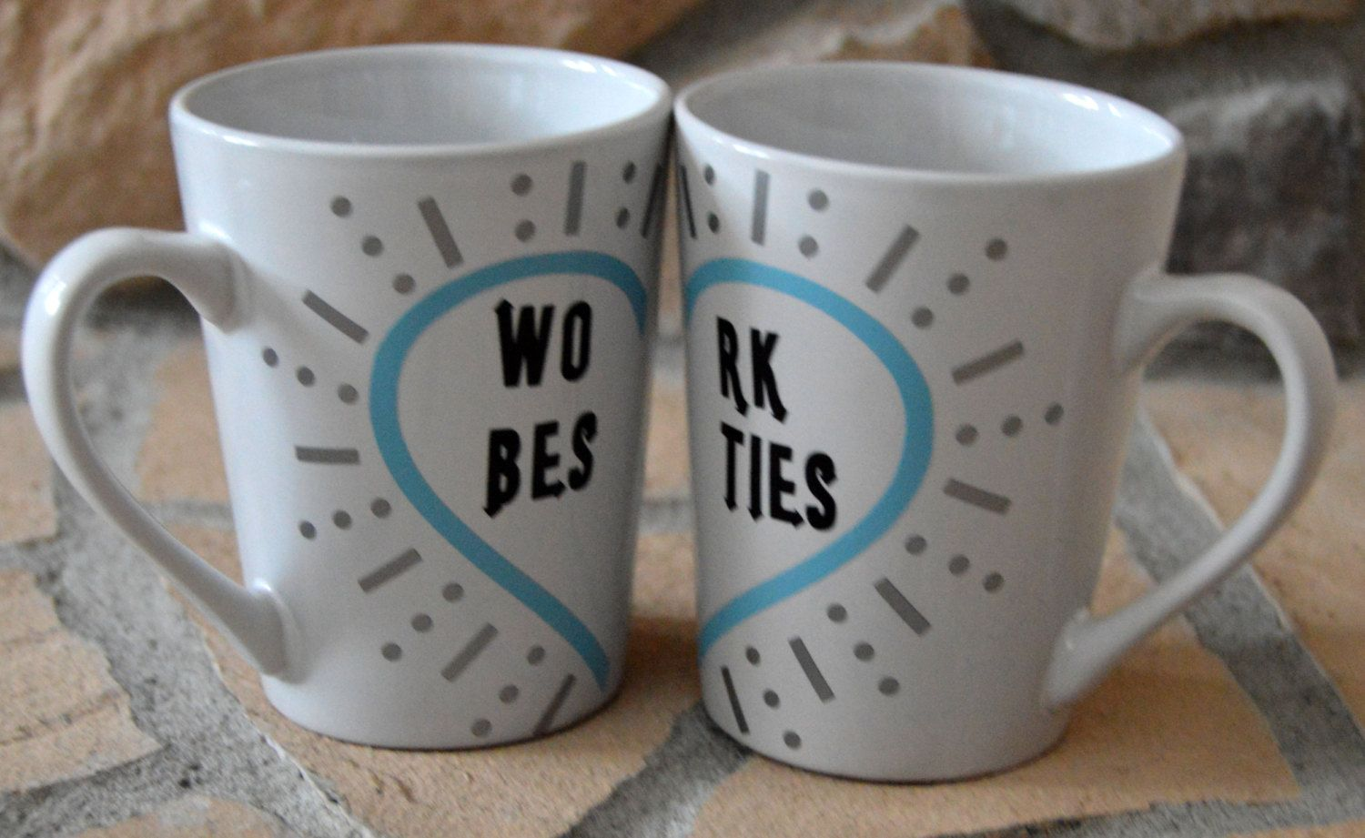 Work Besties mug set by LittleSumthin on Etsy Bestie