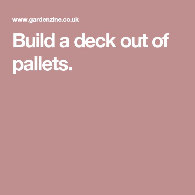 Build a deck out of pallets.   Building a deck, Pallet ...