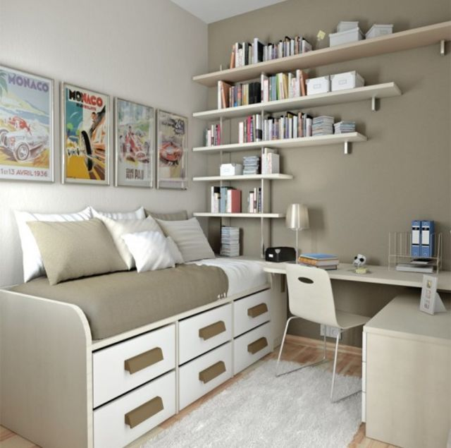 25 Brilliant Designs For Tiny Apartments. Teenage BedroomsTeenage BedsSmall  ...