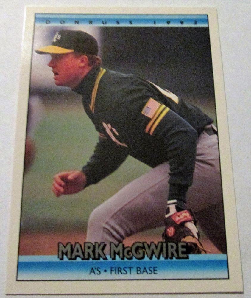 199192 leafdonruss mark mcgwire series 1 card348