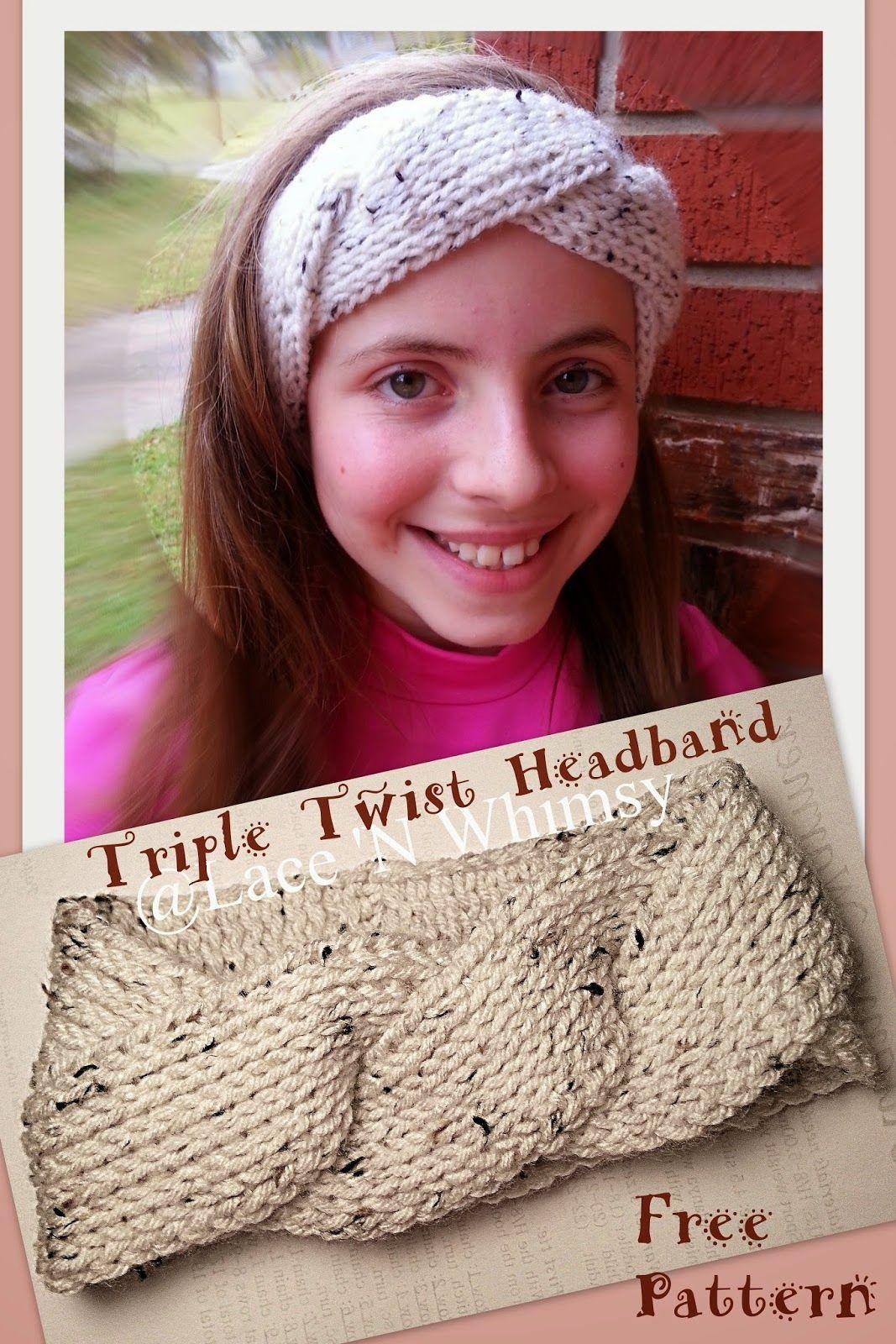 Lace and Whimsy: Triple Twist Headband Ear Warmer Tunisian Knit ...