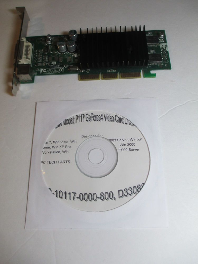 NVIDIA P117 180 10117 0000 800 D33088 64MB AGP DVI S VIDEO CARD With Drivers