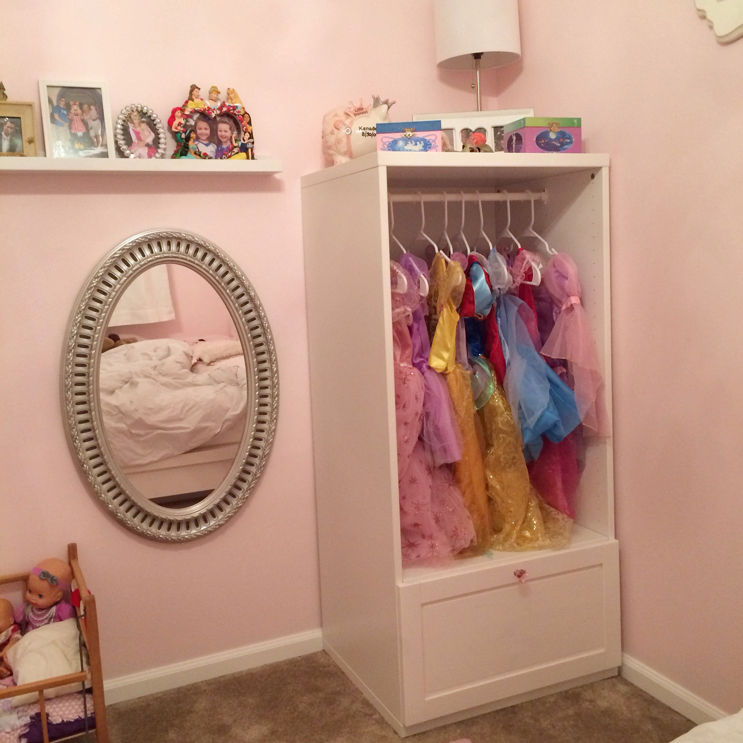 Princess Toys Box Storage Kids Girls Chest Bedroom Clothes: Princess Dress Up Closet. Part Of The Ikea Stuva System