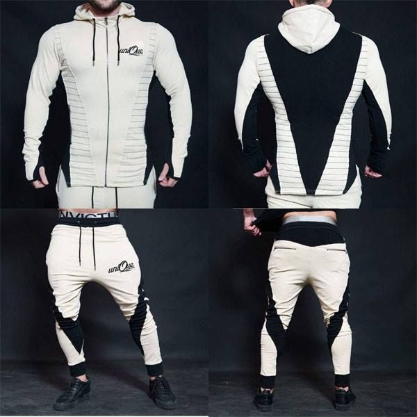 aa35f4a93360 New Mens Tracksuit Set Fleece Hoodie Top Bottoms Jogging Joggers Gym  CONTRAST | Clothes, Shoes & Accessories, Men's Clothing, Hoodies & Sweats |  eBay!