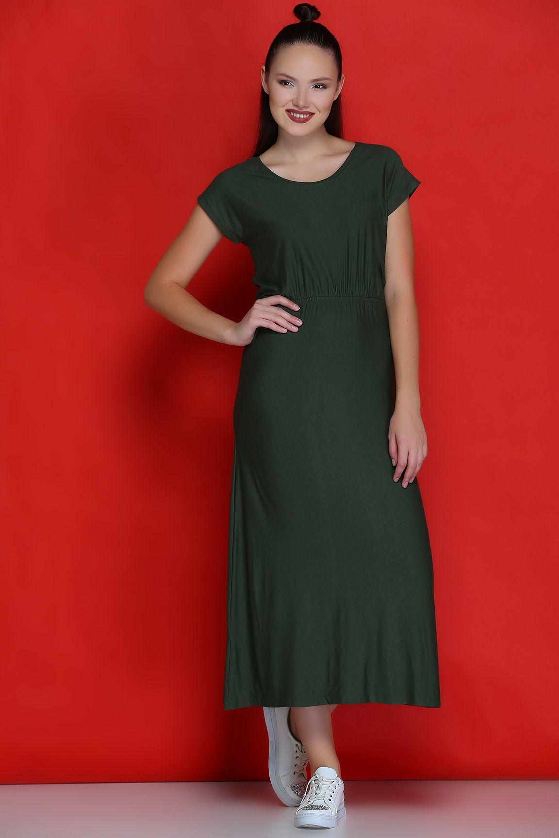 955bc98f137b9 Haki BEL BÜZGÜLÜ ELBİSE | Elbise Modelleri | Dresses, Fashion ve ...