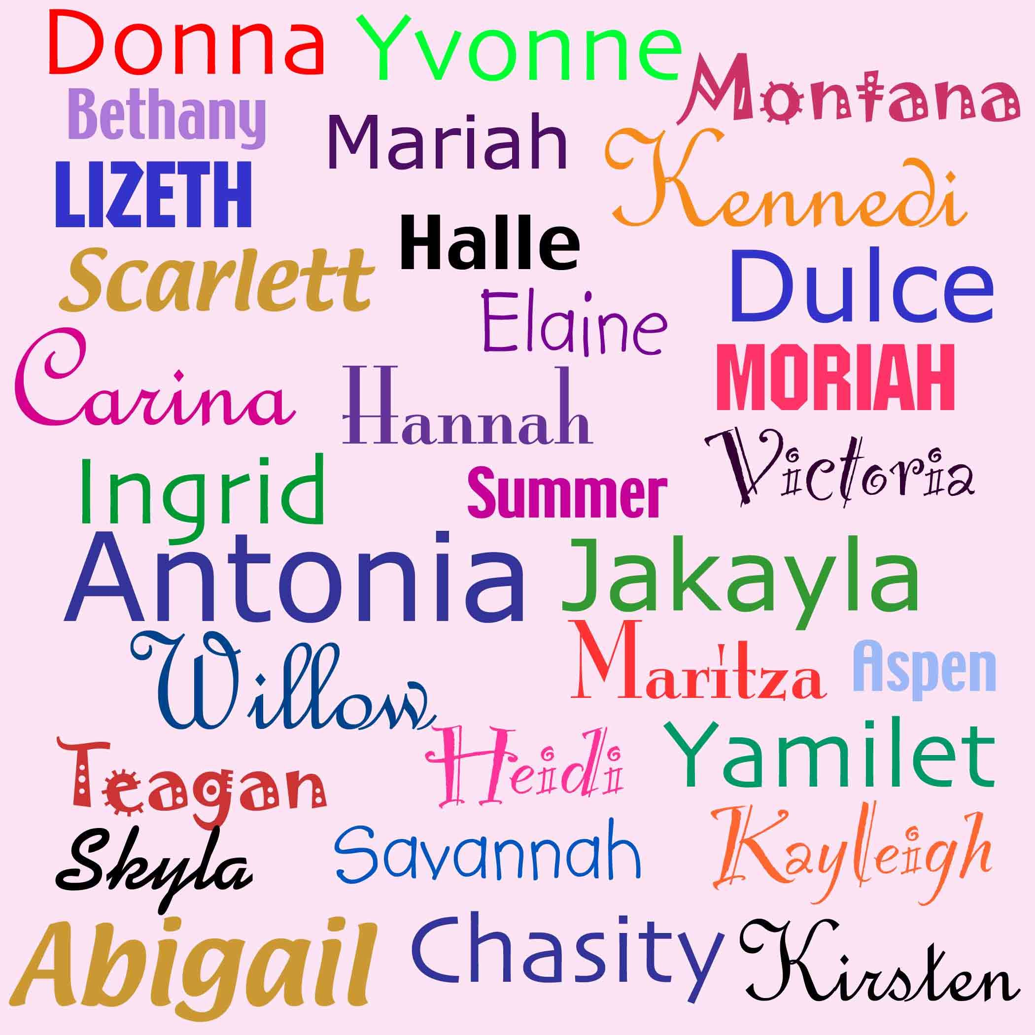 Lots Of Names List Of Girls Names Trendy Girl Names Baby Name List
