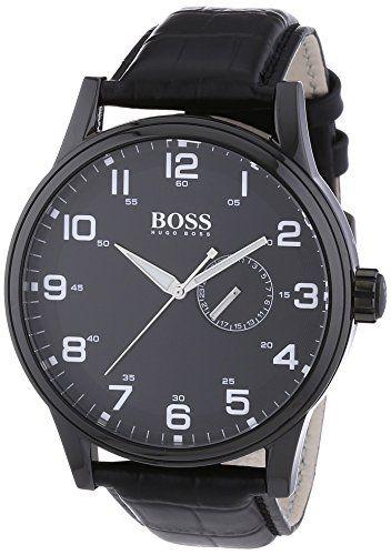 835d8546eb9 Men s Wrist Watches - Hugo Boss Black Dial Black Leather Mens Watch 1512833