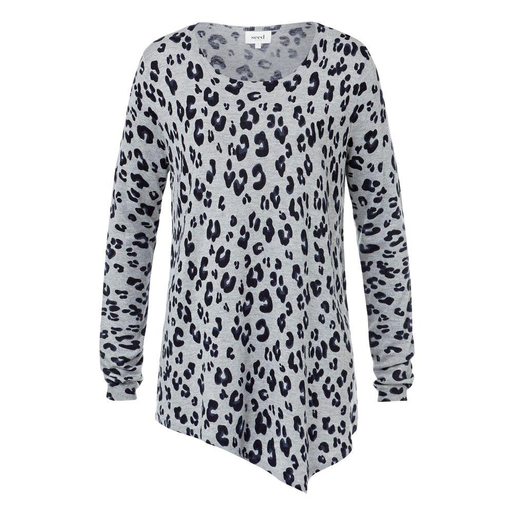 Cotton/Wool Blend Asymmetrical Sweater. Comfortable ...