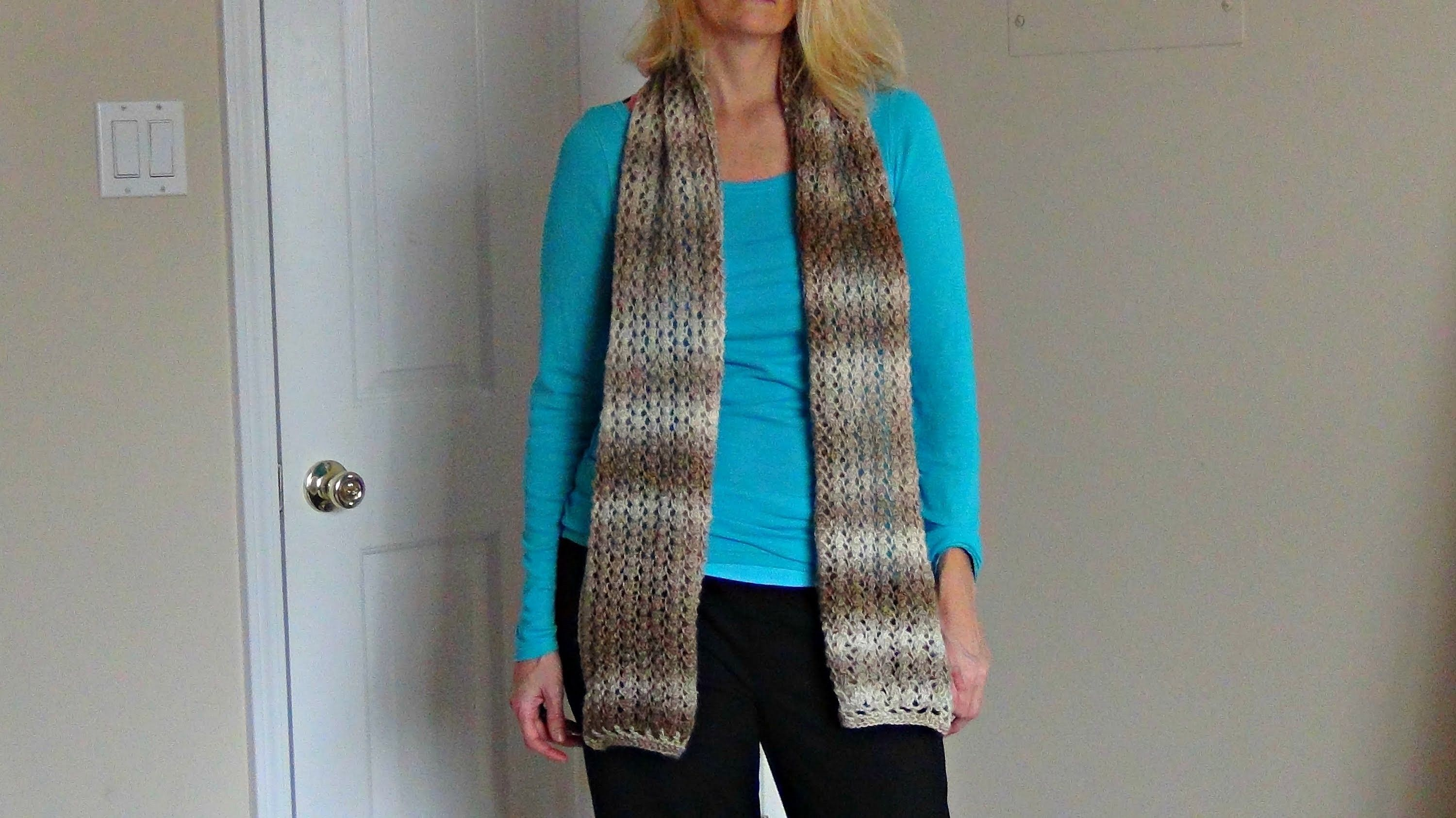 How to Knit a Lacy Scarf with a Crocheted Border | Scarves and Patterns