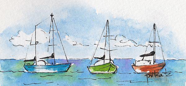 three-sailboats-near-tahiti-pat-katz.jpg (600×279)