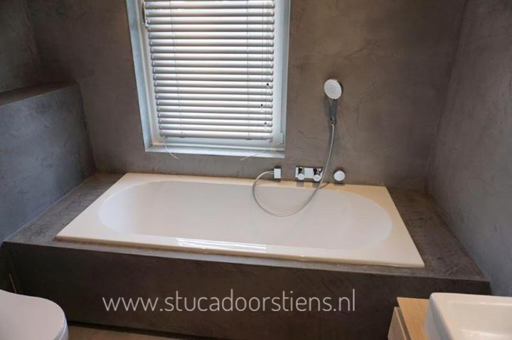 Badkamer Betoncire #geenvoegenmeer #mortex #beal #friesland ...