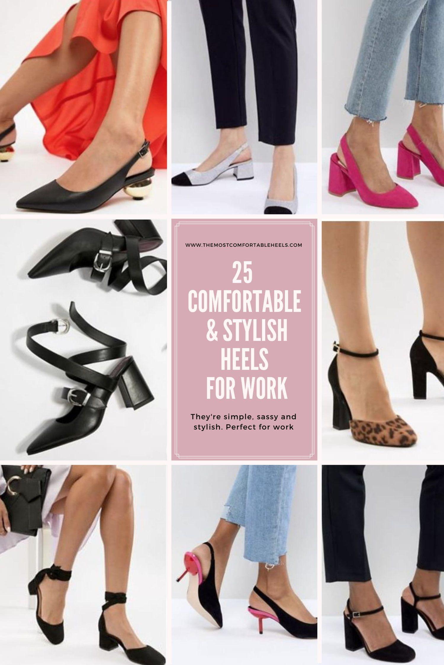 25 Comfortable Stylish Heels For Work