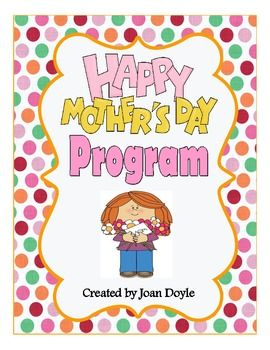 Mother's Day Recognition Program | jump on board teachers | Mothers