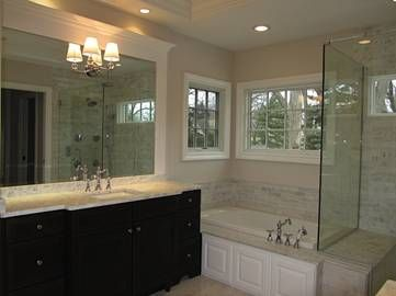 Inspiration for my dream bathroom! - Decora Cabinetry Master Bathroom by Seigle's Cabinet Center #OmegaVanityMakeover