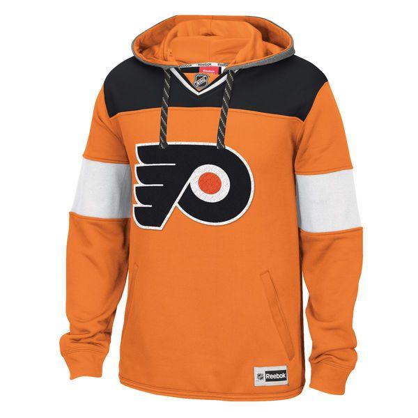 Philadelphia Flyers Reebok Jersey Speedwick Pullover Hoodie - Orange