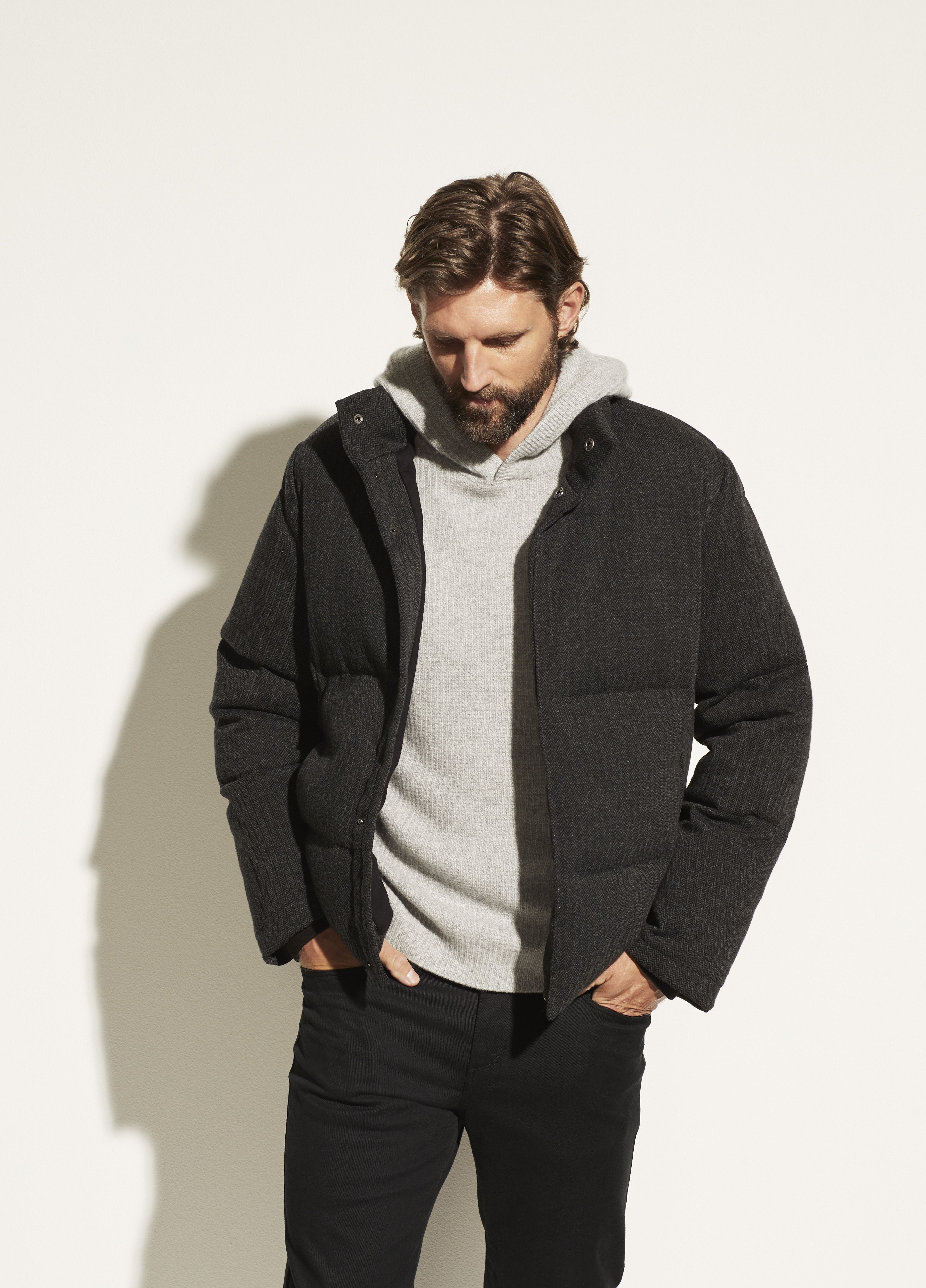 Herringbone Puffer Jacket For Men Puffer Jackets Quilted Puffer Jacket Mens Jackets [ 5071 x 3648 Pixel ]