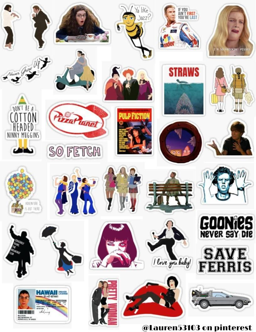 Movie Sticker Pack Sticker By Lauren53103 Stickers Packs Cute Stickers Hydroflask Stickers