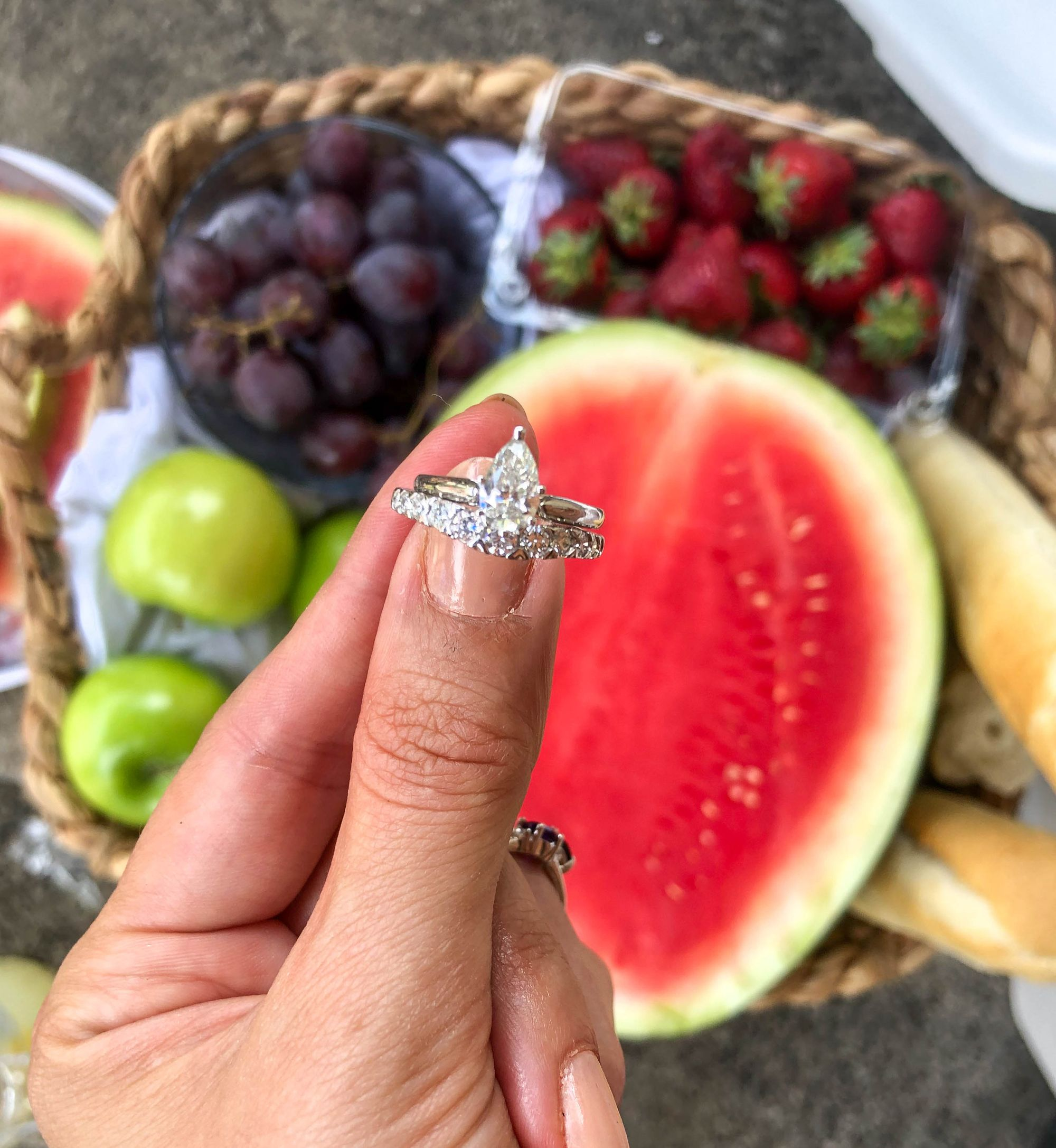 Heritage Pear Diamond Solitaire Engagement Ring 1ct in 2019