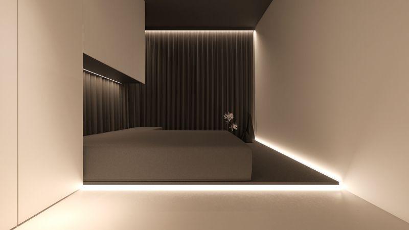 Led Beleuchtungskonzept Modell : Led beleuchtung unter dem bett minimalistisch modern model