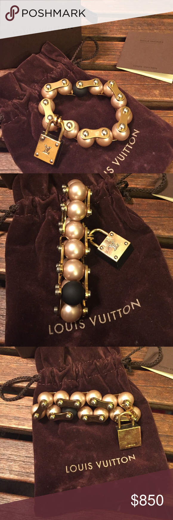 Rare louis vuitton mechanic pearl bracelet pinterest louis