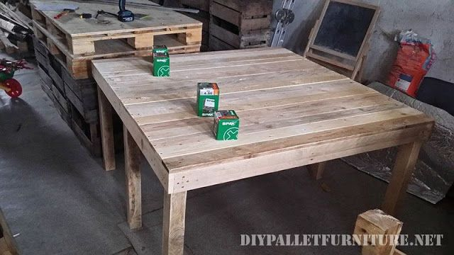 Mueblesdepalets.net: Mesa extensible para el comedor con palets ...