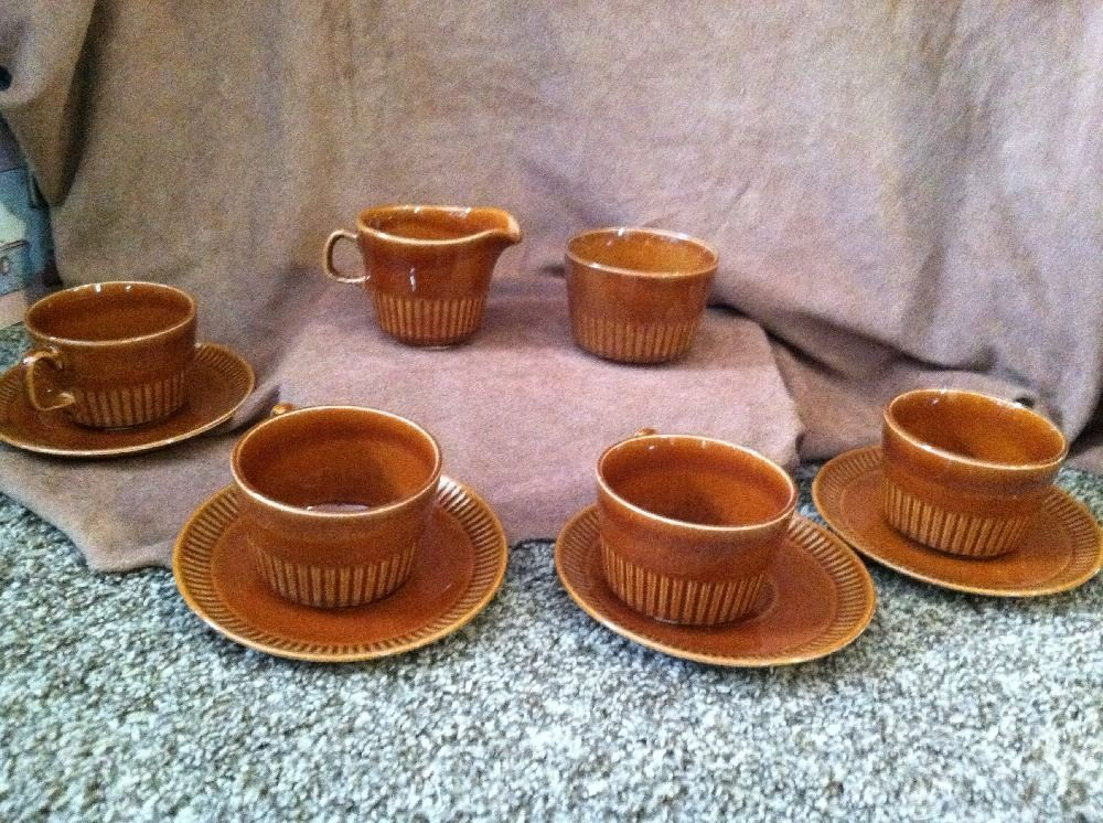 Details about Vintage MCP USA McCoy Pottery Brown Set of 4