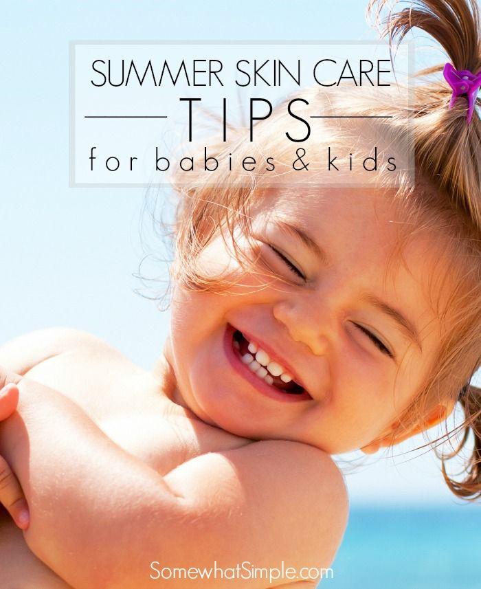 Summer Skin Care Tips For Babies Summer Skin Care Tips Summer Skincare Summer Skin