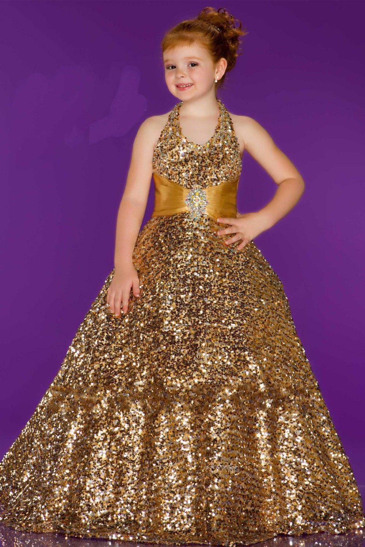 Click to Buy << 2016 Flower Girl Dresses Lovely Halter Grils dresses ...