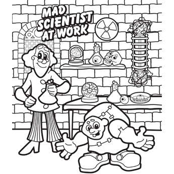 Coloring Pages Mad Scientist Halloween Coloring Book Halloween Coloring Halloween Coloring Pages