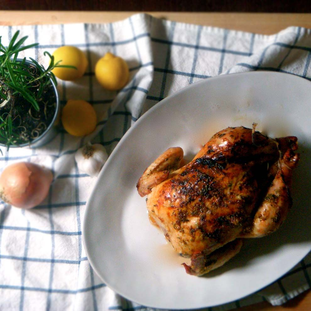 Lemon, Garlic, And Rosemary Whole Roast Chicken Bowl Of Delicious! The