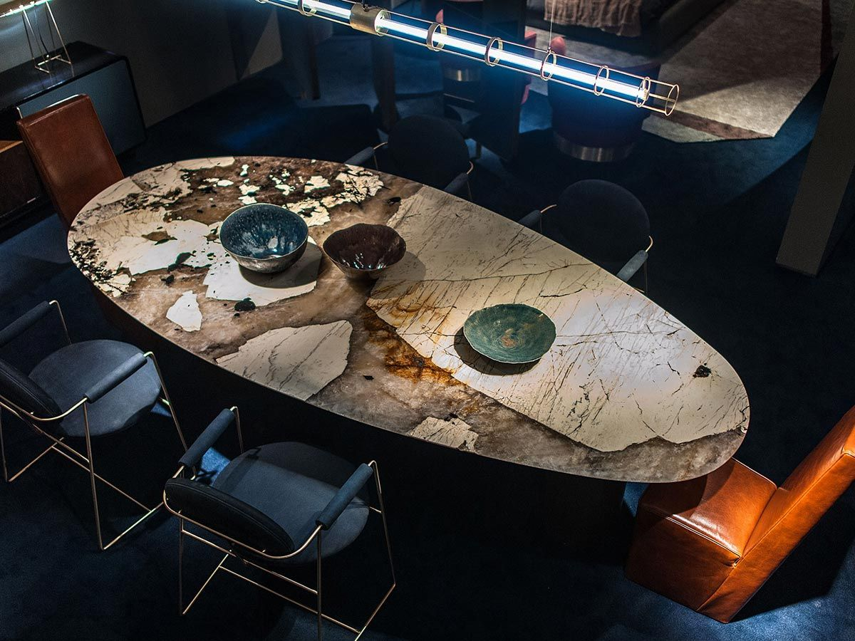 Lagos Table by Baxter uniqueness in interior design is part of Stone dining table - Discover the table Lagos by Baxter, luxurious interior design made in Italy, available online near to you  Worldwide shipping, best price guaranteed