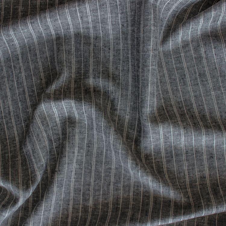 Blackbird Fabrics - Pinstripe Hemp/Organic Cotton Chambray - Black - 1/2 meter, $9.00 (http://www.blackbirdfabrics.com/pinstripe-hemp-organic-cotton-chambray-black/)