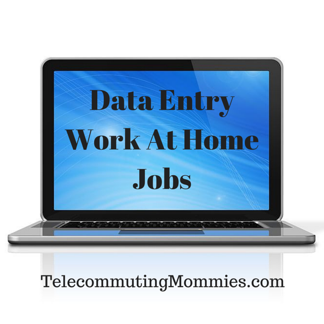how to get data entry work at home