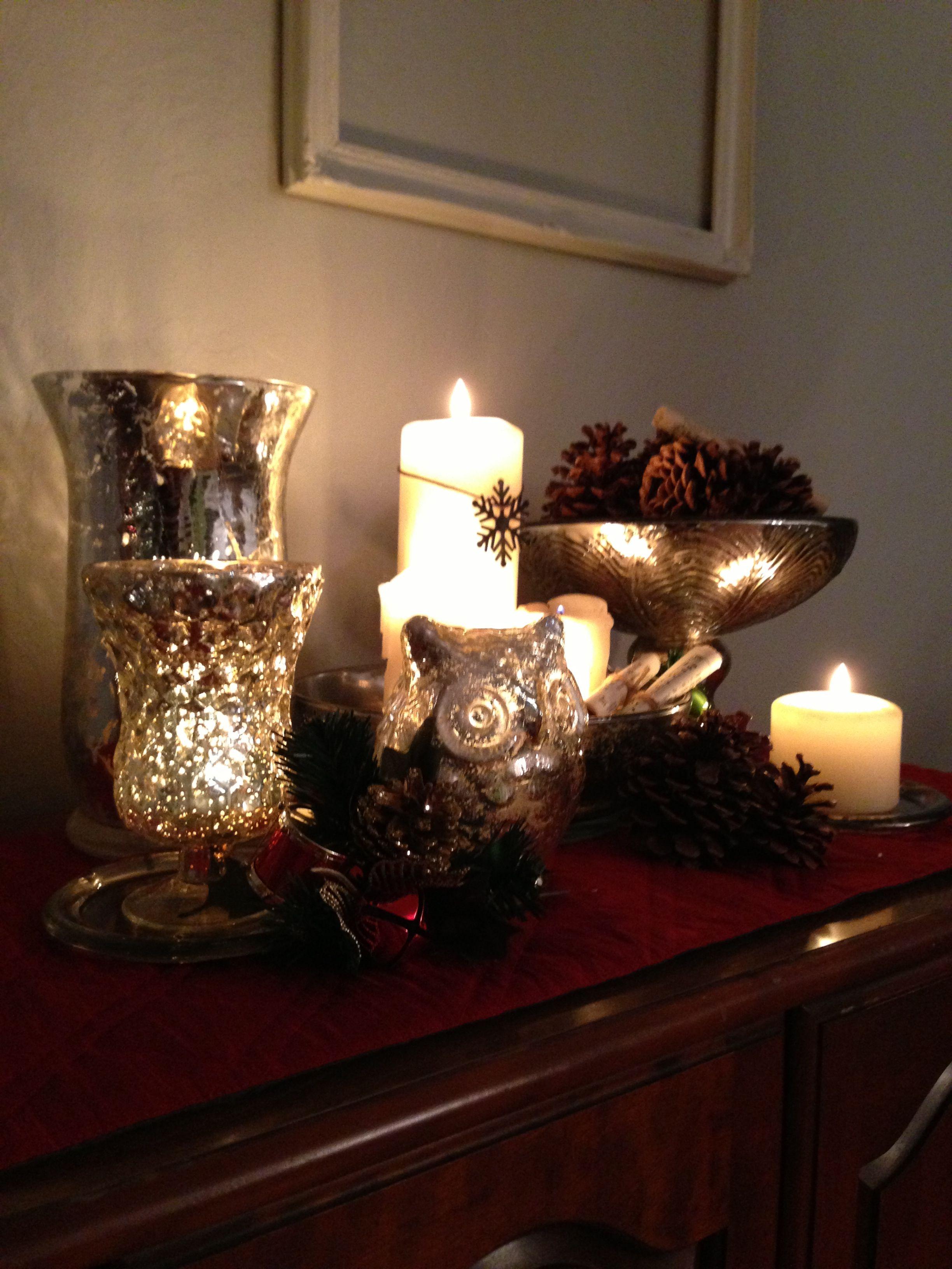 Christmas Mercury Glass Decor