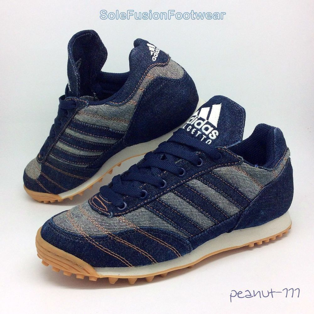048b3f3e adidas Calcetto Denim Trainers size 4.5 Mens/Womens Rare VTG Sneaker US 5  37 1/3 | eBay
