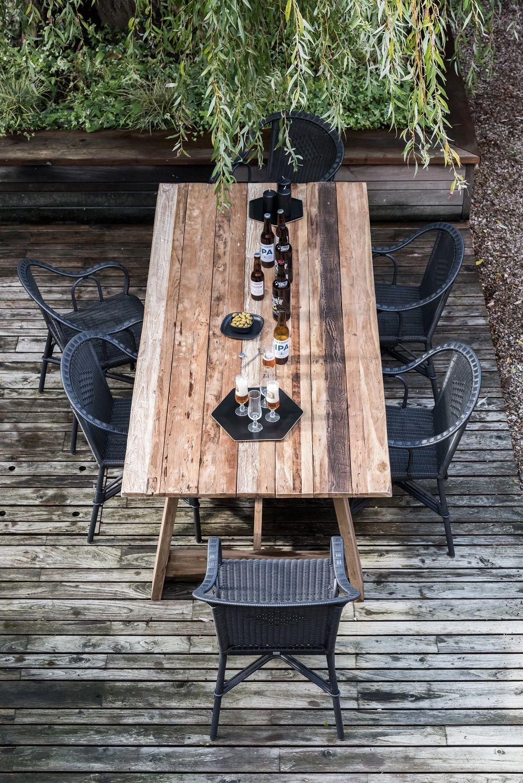 table de jardin bois table teck