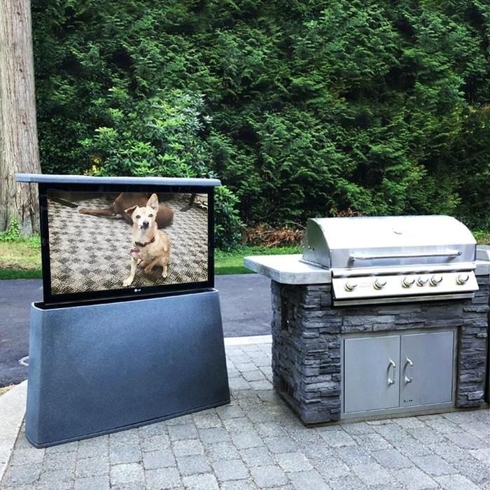 outdoor tv cabinet with built in tv lift in 2020 outdoor tv cabinet tv lift cabinet outdoor tv on outdoor kitchen tv id=54266