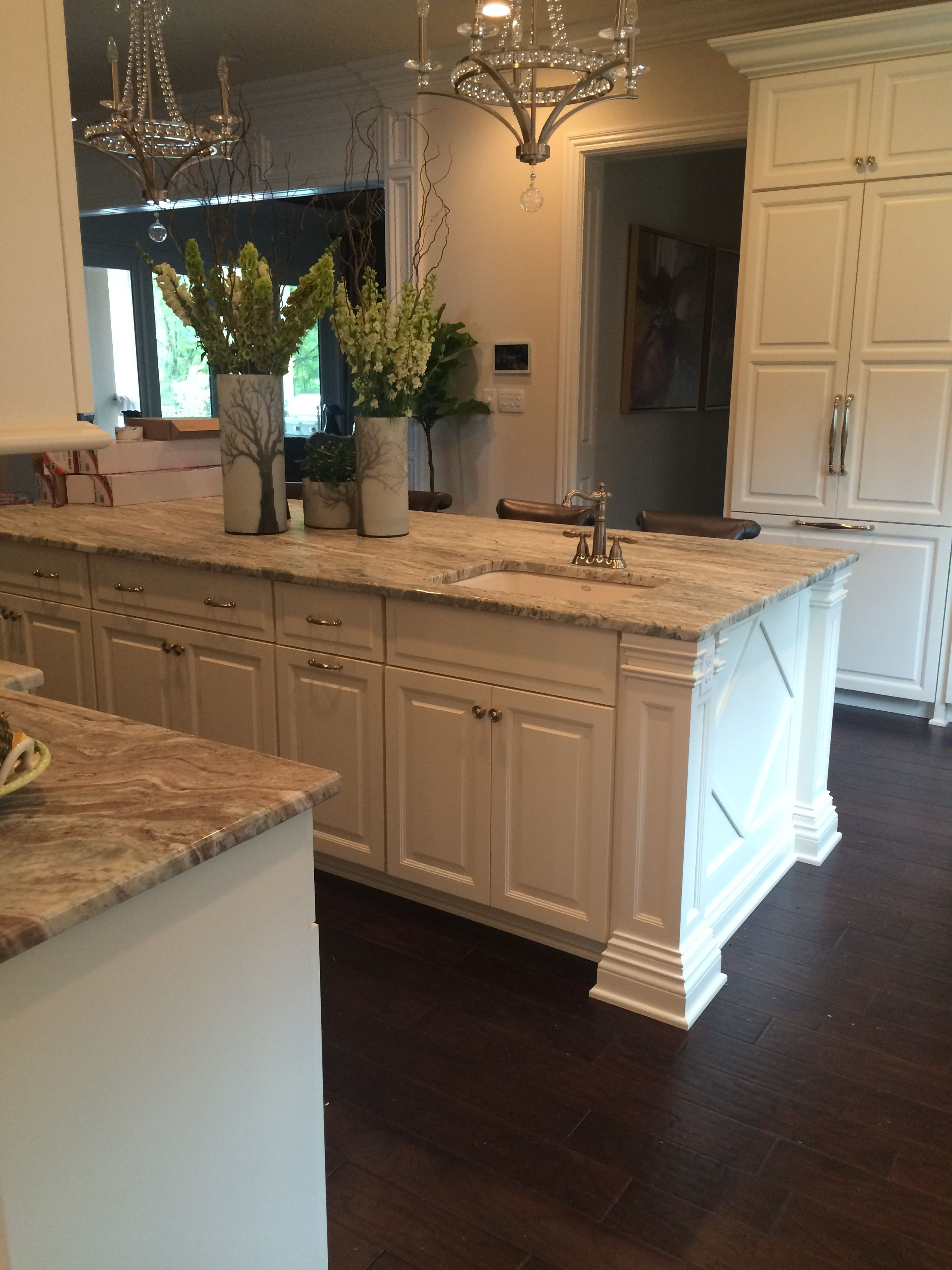 Best Fantasy Brown Hard Marble With White Cabinets And 400 x 300