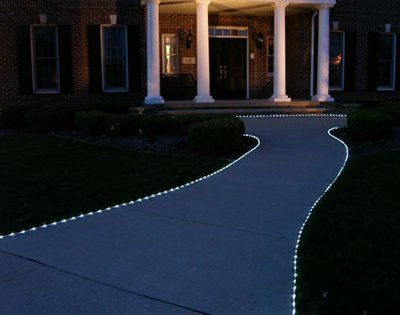 Solar Powered Led Tube Lights Rope Lighted Walkway