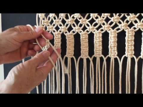 makramee wandbehang teil 1 diy macrame wall hanging eng sub youtube kn pfen macram. Black Bedroom Furniture Sets. Home Design Ideas