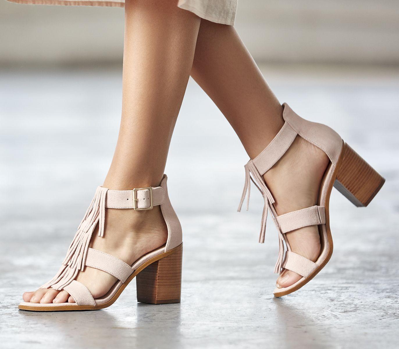 17ad286451d Suede fringe sandal in spring blush