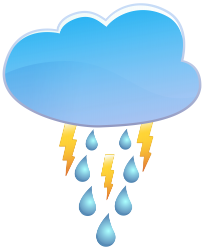 Cloud Rain And Thunder Weather Icon Png Clip Art Rain And Thunder Clip Art Thunder Weather