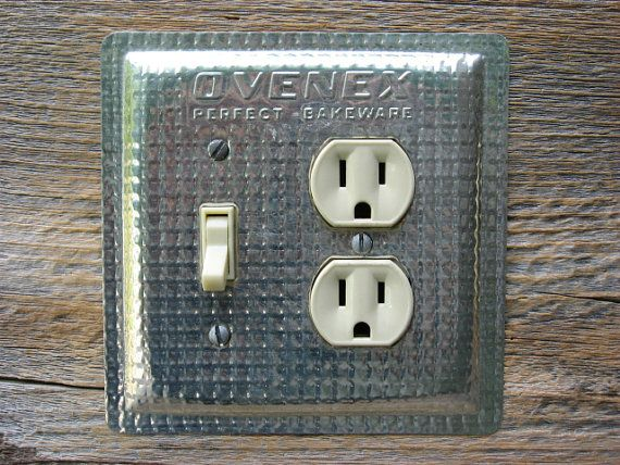 kitchen light switch covers kitchen. Kitchen Light Switch Plate Covers Combo Outlet Cover Lighting Made From Antique Ovenex Vintage Baking Pans OLC-1045C-L K